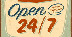open 24 7 365