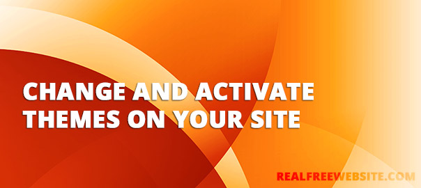 How to Change and Activate a Theme for your Free Website