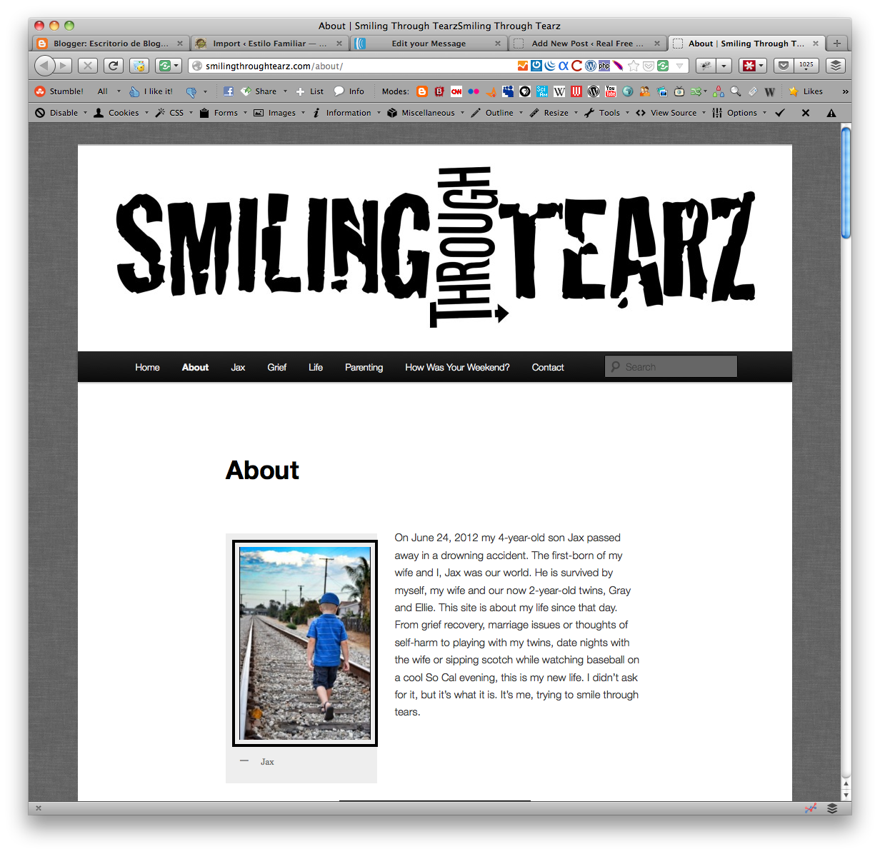 Smiling Through Tearz Featured Free Website