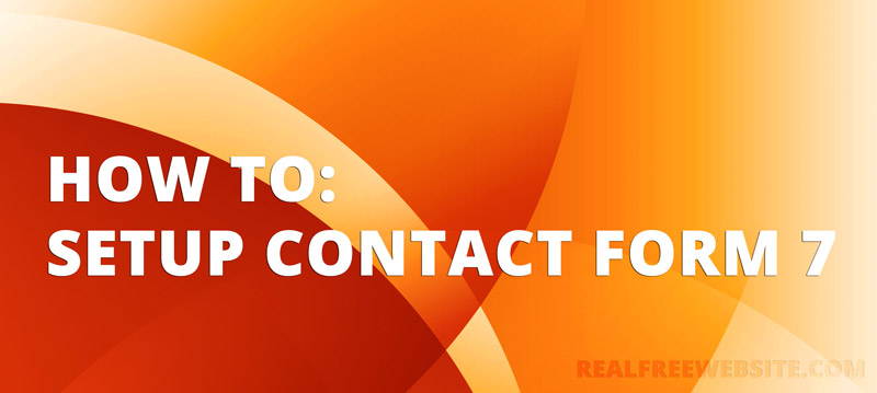 How to use Contact form 7 in WordPress